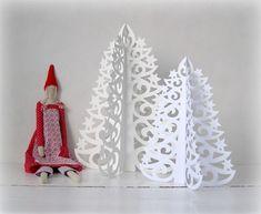 papírový vánoční stromeček Advent, Christmas Ornaments, Holiday Decor, Home Decor, Room Ideas, Dining Room, Abstract, Kids, Decoration Home