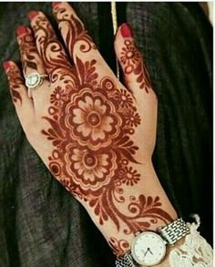 Henna Tattoo Designs Gallery - Wedding Henna Designs for Brides Images collection. this is new collection wedding henna tattoo designs for bride Floral Henna Designs, Arabic Henna Designs, Indian Mehndi Designs, Mehndi Designs Book, Stylish Mehndi Designs, Mehndi Designs 2018, Mehndi Design Pictures, Mehndi Designs For Fingers, Beautiful Henna Designs