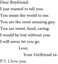 Romantic and Cute Love Quotes for Your Boyfriend girlfriend. Description from pinterest.com. I searched for this on bing.com/images