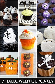 9 Easy & Cute Halloween Cupcakes  - Pizzazzerie