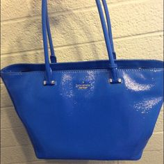 """kate spade cedar street patent small harmony kate spade cedar street patent small harmony in orbit blue - 10""""h x 12""""w x 6""""d - perfect condition classic shoulder bag, mostly just sits in my closet. kate spade Bags Shoulder Bags"""