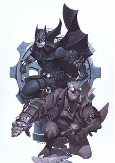 Batman/Hellboy by Chris Stevens Comic Art