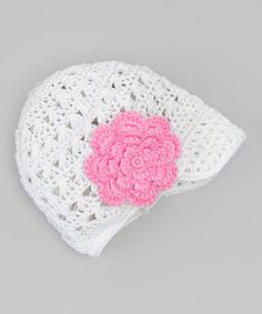 This crocheted set boasts a snug beanie that fits over darling heads with wondrous ease. Even better, its pretty flower bow clips on and off in a jiff, giving a burst of flair to the cozy hat or any other article in need of some charming spruce.