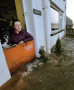 Use a Flood Gate to prevent rising flood waters from entering your home. Installs very easily.