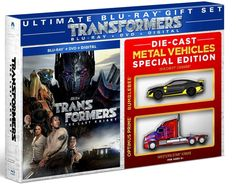 WalMart Die-Cast Optimus Prime, Bumblebee Exclusive Blu-ray DVD #Transformers: The Last Knight Set