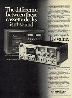 Old Advertisements, Retro Advertising, Vintage Market, Vintage Ads, Pioneer Decks, Pioneer Audio, Vintage Television, Hifi Audio, Computer Case