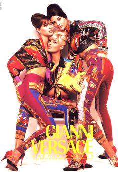 Christy Turlington, Linda Evangelista & Helena Christensen for Gianni Versace Fall/Winter 1991 Campaign