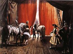 The Mills Circus by Dame Laura Knight