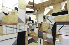 Clemens Behr 3D wooden collages
