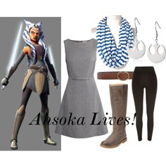Ahsoka Lives by jvolavka on Polyvore featuring H&M, River Island, Frye, Orciani and Tano