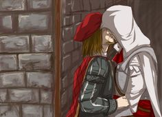 Omgg *-* Ezio x Leonardo from Assassin's Creed II