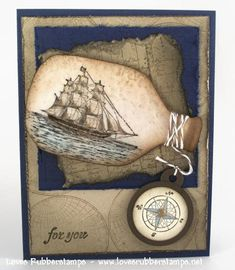 Ship in a bottle ... clever.  free bottle template here: http://www.scribd.com/doc/54561450/Ship-in-a-Bottle. #cardsformen. For My handmade greeting cards visit me at My Personal blog: http://stampingwithbibiana.blogspot.com/
