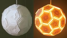 DIY lamp (icosahedron) - learn how to make a puzzle lampshade from template - EzyCraft