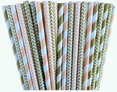 Peach and Gold Chevron and Stripe Paper Straws -Birthday Wedding or Baby Shower Party Supply 100%Biodegradable 7.75 Inches Pack of 100 Outside the Box Papers http://www.amazon.com/dp/B00RPBG86M/ref=cm_sw_r_pi_dp_AQTYub0NWE991