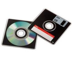 Remember the good O'l days of the floppy disk? Yeah, we dread them too. Not to worry, these guys are CD-R's in disguise. Look retro while keeping your data backed up on new age technology. A blast from the past! Cd Design, Cd Cases, Look Retro, Floppy Disk, Scratch Off, Monkey Business, Ol Days, Travel Gifts, The Good Old Days