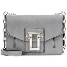 Proenza Schouler Hava Chain Crossbody Suede Shoulder Bag (24.075 ARS) ❤ liked on Polyvore featuring bags, handbags, shoulder bags, purses, bolsas, grey, crossbody bag, shoulder hand bags, man bag and suede shoulder bag