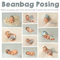 This video will go over beanbag posing, it covers 14 different poses you can do on the beanbag. It will show 2 different babies where I do 12 poses...
