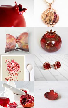 Pomegranate by Cheri on Etsy--Pinned with TreasuryPin.com