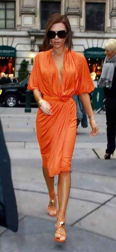 Victoria Beckham I'm orange.  Love this color on a tan body