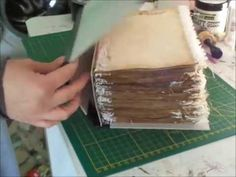 hidden binding and chipboard cover for junk journals tutorial part 2 of 2 - YouTube