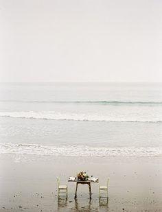 small quaint beach wedding for 2.  via:flowerwildevents  WALKING ON SUNSHINE:-)