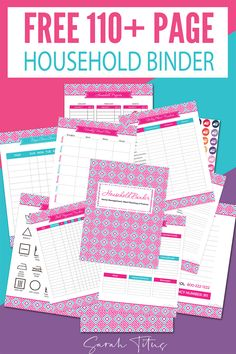 If you're an organization freak like me who just loves having everything all nice and tidy in one spot, this household binder free printables set is for you! Planner Pages, Printable Planner, Free Family Binder Printables, Emergency Binder Free Printables, Binder Planner, Household Binder, Household Notebook, Household Tips, Binder Organization
