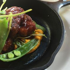 Small plates like this rootbeer braised pork belly (photo by www.ittybittyfoodies.com)