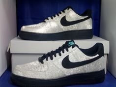 outlet store 5a703 a8af1 NIKE AIR FORCE 1 07 LV8 METALLIC SILVER BLACK AQUA DIAMOND 718152 005