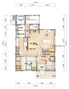 28 Ideas For House Architecture Interior Layout Architecture Memes, Japanese Architecture, Interior Architecture, Interior Design, Japanese Apartment, Craftsman Floor Plans, Stylish Kitchen, Japanese House, House Layouts