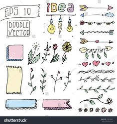 Colored Set of Cute Hand drawn Vintage Doodle Dividers isolated on white background. Line Border Set, Design Element, Beautiful Ornaments Bullet Journal Dividers, Bullet Journal Headers, Bullet Journal Writing, Bullet Journal Ideas Pages, Bullet Journal Inspiration, Bullet Journal Frames, Page Borders Design, Border Design, Simple Doodles