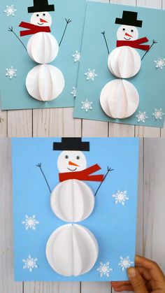 This circle snowman craft is easy for toddlers, preschoolers, kindergartners and older kids to make this winter. Snowman printable template available. Christmas Arts And Crafts, Winter Crafts For Kids, Diy Christmas Cards, Holiday Crafts, Kids Christmas, Silver Christmas, Christmas Christmas, Handmade Christmas, Classroom Crafts