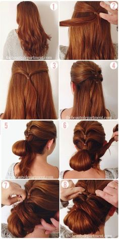 Manucure And Makeup: Girly Hairstyles