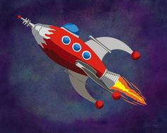 Rocket Ship by SusanSewert on Etsy