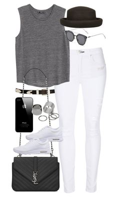 """""""Inspired outfit for coffee with friends"""" by pagesbyhayley ❤ liked on Polyvore featuring ASOS, rag & bone, MANGO, Yves Saint Laurent, NIKE, GANT, Topshop and Pieces"""