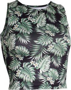 OGNX Yoga Cropped Top Hawaii Damen Grün Recyceltes Polyester