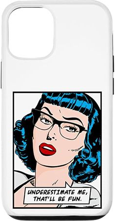 Amazon.com: iPhone 12/12 Pro Underestimate Me That'll Be Fun Vintage Pop Art Girl Quote Case Vintage Pop Art, Vintage Comic Books, Vintage Comics, Retro Vintage, Samsung Galaxy Gift, Samsung Cases, Feminism Quotes, Pop Art Girl, Text Quotes