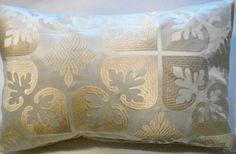Silk Lumbar Pillow Cover-Embroidered Creme by EdwardJohnHomeDecor