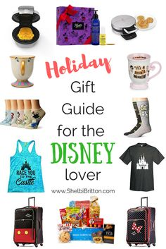 The perfect Gift Guide for that Disney obsessed adult on your list! Walt Disney World, Disneyland, Star Wars inspired gifts!