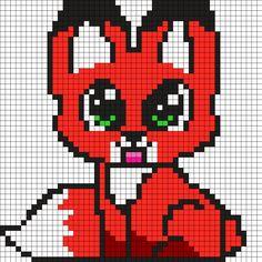 Kandi Patterns for Kandi Cuffs - Animals Pony Bead Patterns Pearler Bead Patterns, Kandi Patterns, Perler Patterns, Beading Patterns, Bracelet Patterns, Minecraft Pattern, Pixel Pattern, Minecraft Pixel Art, Minecraft Buildings