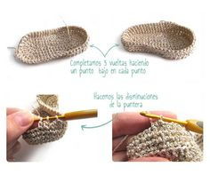 Tutorial que muestra el paso a paso para hacer unos patucos de crochet tipo merceditas para bebé