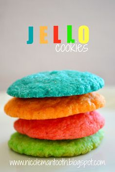 RANDOM RAMBLINGS: { JELLO COOKIES } recipe These literally taste like jello and are very sweet. If you like fruity flavored cookies then these are worth a try.