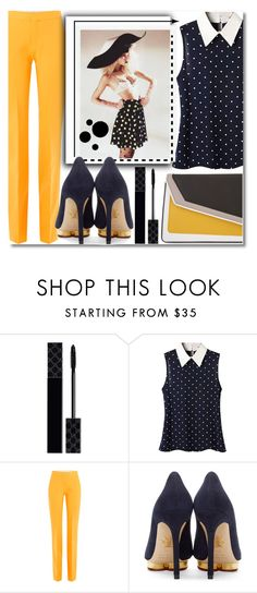 """""""Polka Dots"""" by anilovic ❤ liked on Polyvore featuring Gucci, Victoria, Victoria Beckham, Charlotte Olympia and âme moi"""