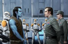 In celebration of Thrawn being in Star Wars: Rebels here's a scene from the books he first appeared in. (well a mentioned flashback at least.)
