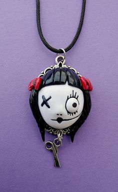 Dollie Don't play with scissors Necklace by MyOddities on Etsy