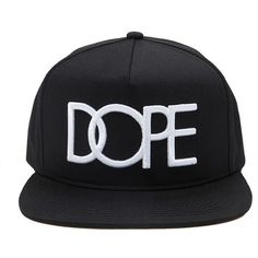 42b87619d9a Forever 21 Dope Logo Snapback ( 34) ❤ liked on Polyvore featuring men s  fashion
