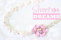 This is such a beautiful statement necklace. It has a vintage juliana brooch as part of the pendant with old pearls and rhinestone pieces. This brooch was from the 70's turned into a pendant. The Swarovski crystals sparkle and shine and the pink hue of the pearls are beautiful for setting off a long flowy navy maxi dress with a beautiful floral crown.  - gift wrapped ready to give- any pieces can be made shorter/longerCheck out my blog to see how to wear the jewellery <...