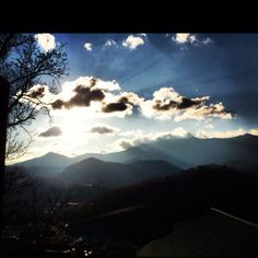 Beautiful sky and view of the mountains