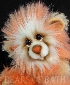 Peach Blossom a 10-11 inch Capability Artist Bear by Carol's Bears of Bath #BearsofBath Panda Bear, Polar Bear, Teddy Bear, Royal Blue And Gold, Peach Blossoms, Hyena, Lemur, Orangutan, Chipmunks