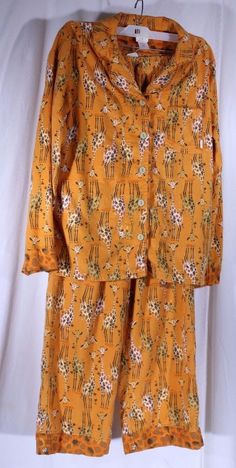 9c74f7df66 Munki Munki Size XS Giraffe Pajama Set 2 PC Sleepwear Rayon Bamboo Flannel   MunkiMunki