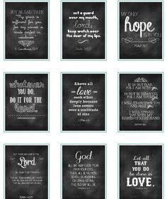 This is a set of chalkboard verses that I made for the retreat a few weeks ago. I picked verses that would hopefully comfort the sweet m. Chalkboard Verse, Chalkboard Designs, Chalk It Up, Chalk Board, Chalk Wall, Chalk Paint, Paper Crafts, Diy Crafts, Hand Lettering